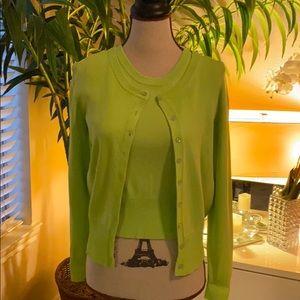 Sweaters - Line green Twin set cardigan 0028